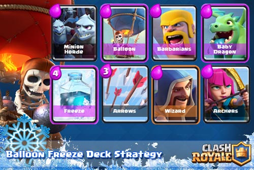 Strategi Deck Balloon Freeze Arena 5 Keatas Clash Royale