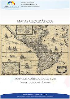 Mapas Geográficos, Mapa de América (Siglo XVII)