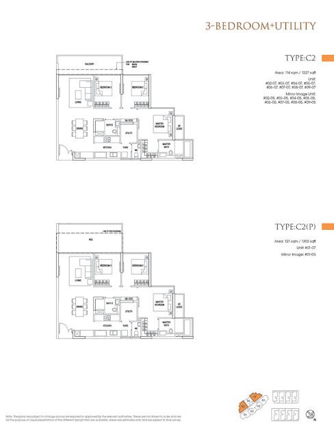 Goodwood Grand 3BR Floor Plan