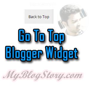 Scroll Top Widget to bloger blogspot