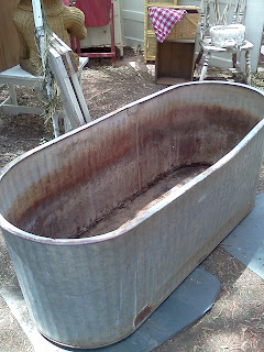 Maryland House Antiques Galvanized Oval Water Trough 85