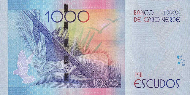 Currency of Cape Verde 1000 Escudos banknote 2014