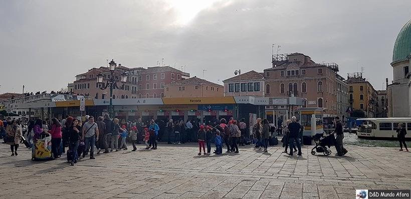 Bilheteria do Vaporetto em Veneza: como se locomover em Veneza
