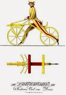 Rancangan sepeda Drais, 1817