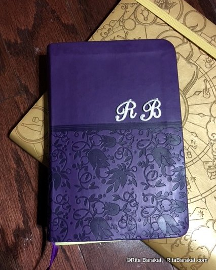 initialed journal cover