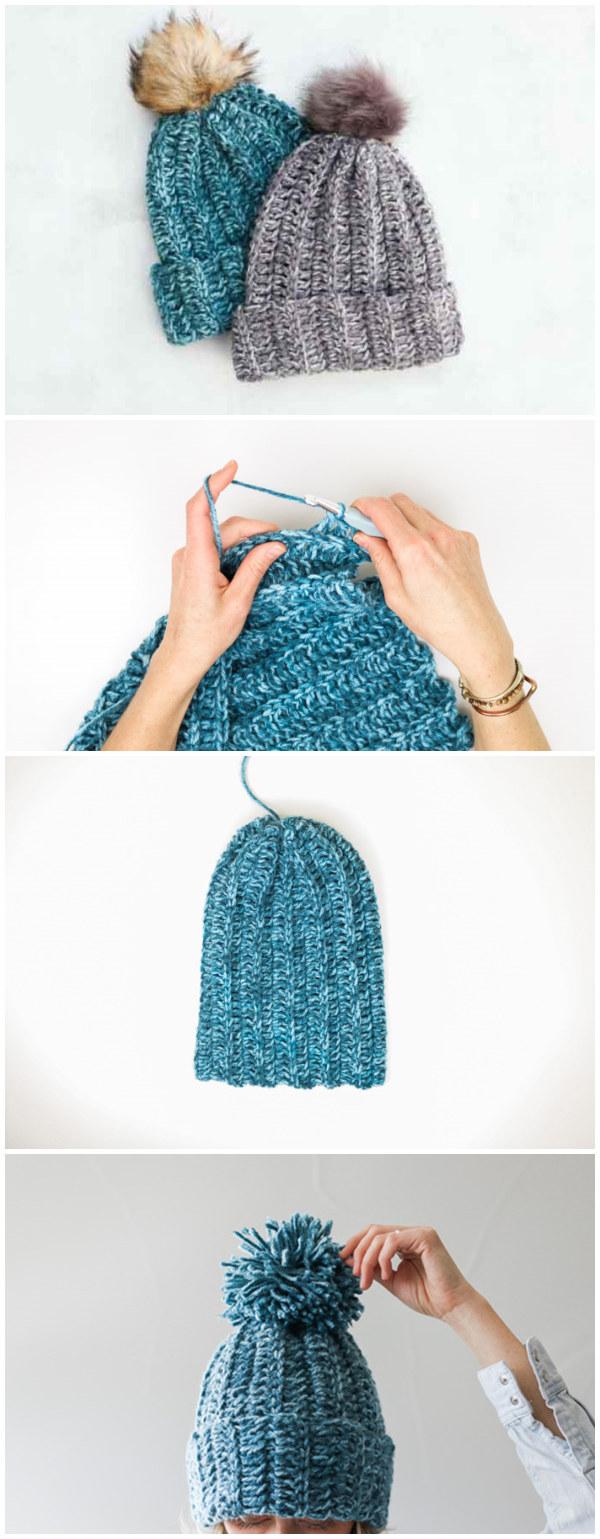 1.5 Hour Beanie – Free Crochet Hat Pattern
