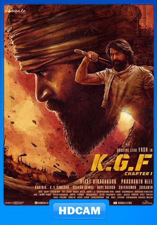 K.G.F Chapter 1 2018 Hindi 720p PreDVDRip x264 | 480p 300MB | 100MB HEVC Poster