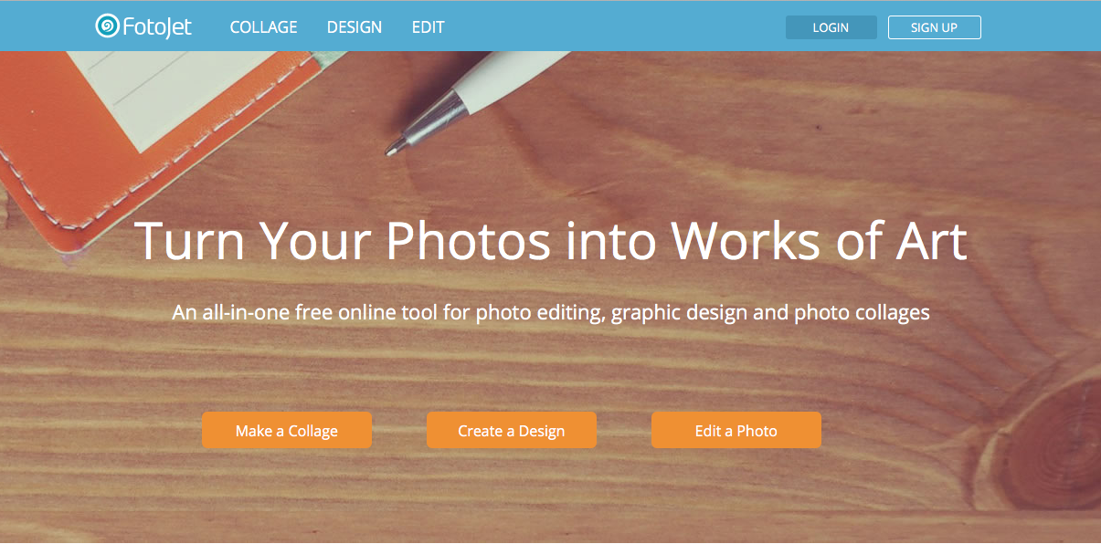 Fotojet online nice photo editing tool with numerous options