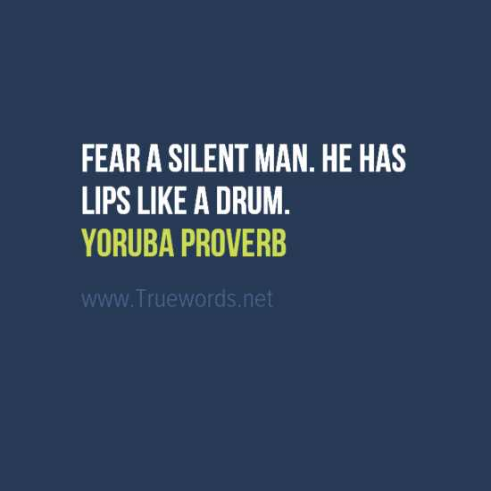 Ancient Yoruba sayings