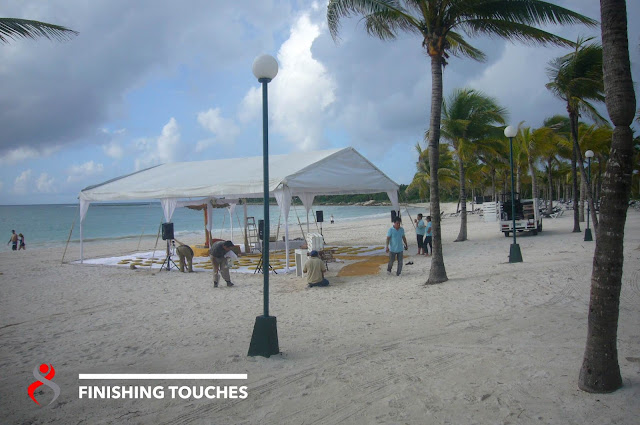Tent beach Wedding h Riviera Maya mexico