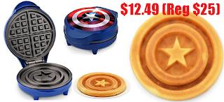 captain america shield waffle maker 12 49 reg 25 free shipping
