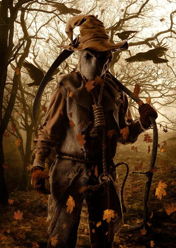 Grim Reaper Scarecrow / Manden med Leen Fugleskræmsel