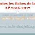 toutes les fiches de la 5 ap 2016-2017