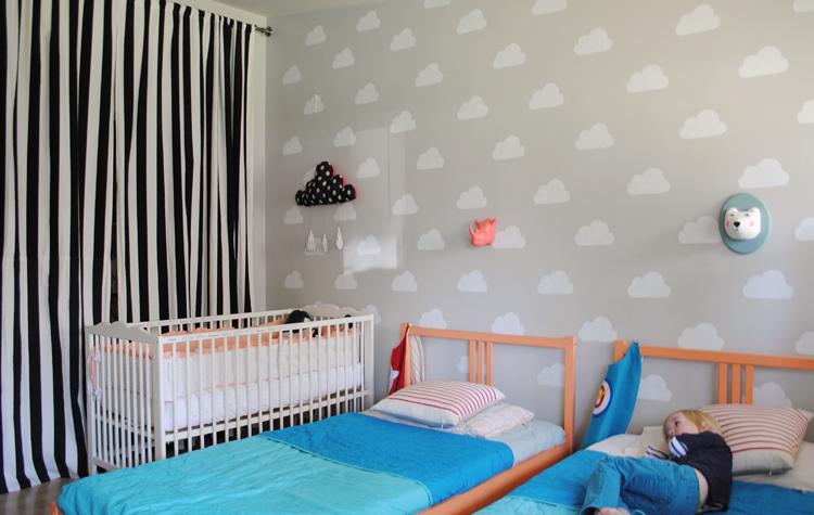 Deconi os compartir habitaci n y llenarla de nubes - Plantillas pared ikea ...