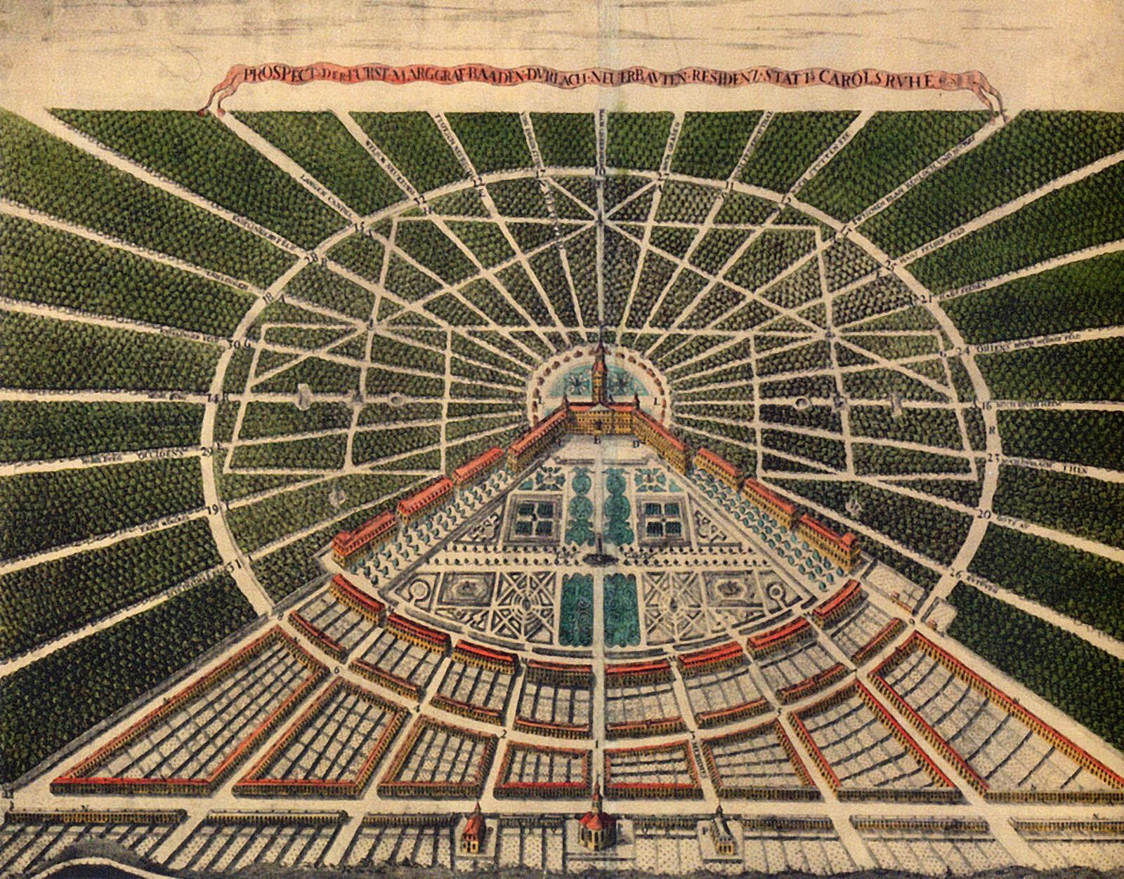 foto del plano de Karlsruhe
