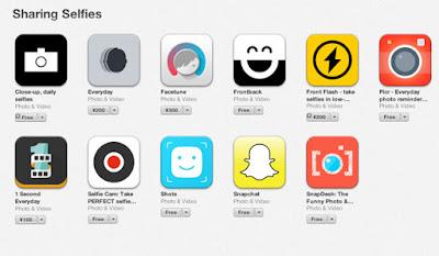 Selfie Apps, viral social media trend