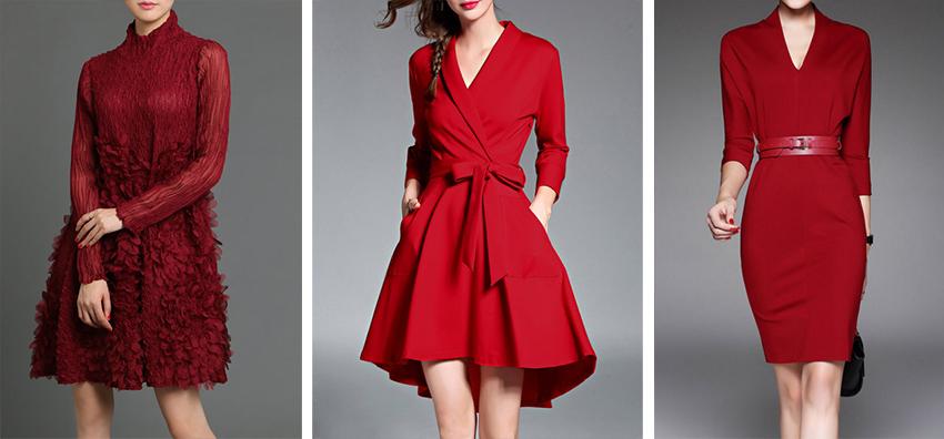 1199b091f9 Wine Red A-line Statement Polyester Mini Dress Red Elegant Midi Dress Red  Sheath V Neck Plain 3 4 Sleeve Midi Dress