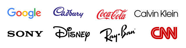 Logos with typography