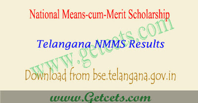 TS NMMS Results 2018-2019 merit list at BSE Telangana