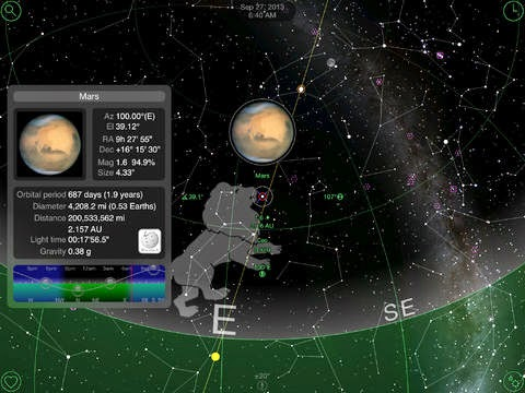 Image of GoSkyWatch Planetarium App Screen Capture