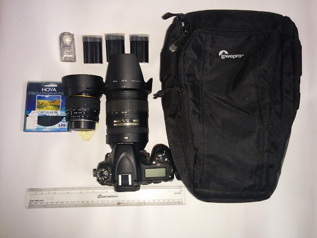 DSLR gear used during the trek