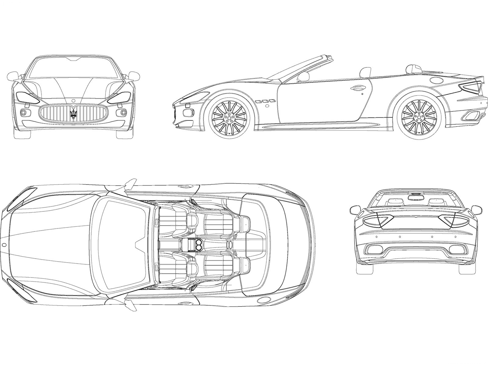 Car Blueprints And Free 3d Models August