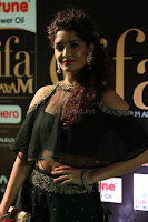 Ritika Singh in a Ethnic Deep Neck Dark Green Choli Ghagra at IIFA Utsavam Awards March 2017 ~ 038.JPG