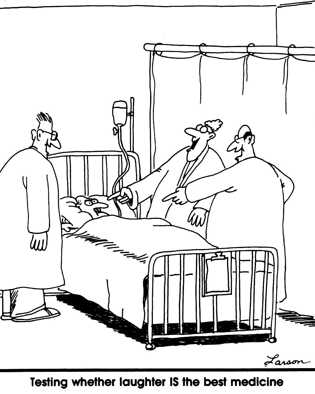 Latter er den bedste medicin?