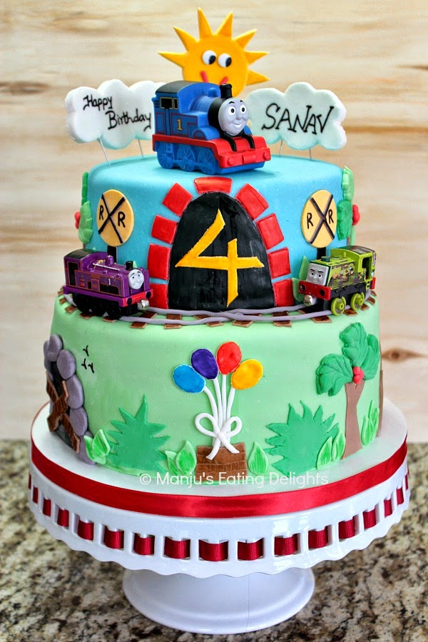 Manjus Eating Delights Thomas the train and Friends Cake for a