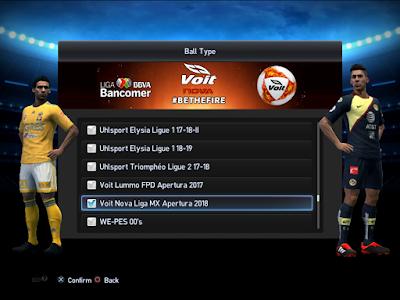 PES 2013 Balls Voit Nova Liga MX Apertura 2018/2019 by M4rcelo