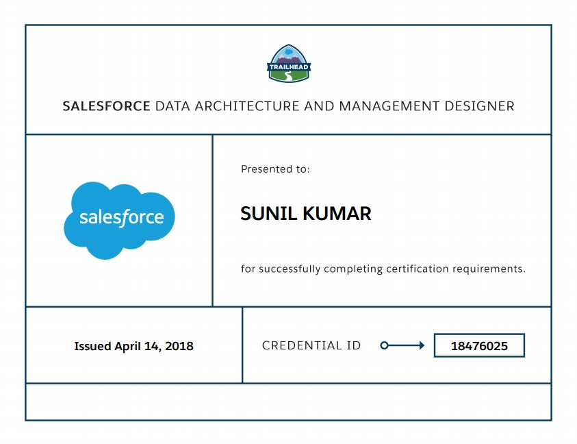 Salesforce Stuff: Data Architecture and Management Designer : Things ...