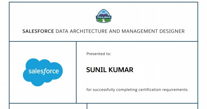 Salesforce Stuff: Data Architecture and Management Designer : Things