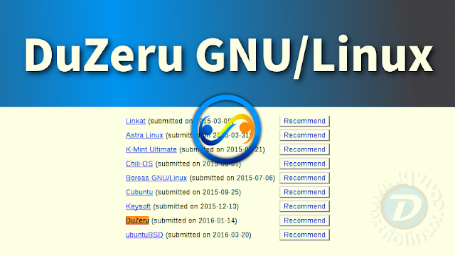 DuZeru Linux no DistroWatch