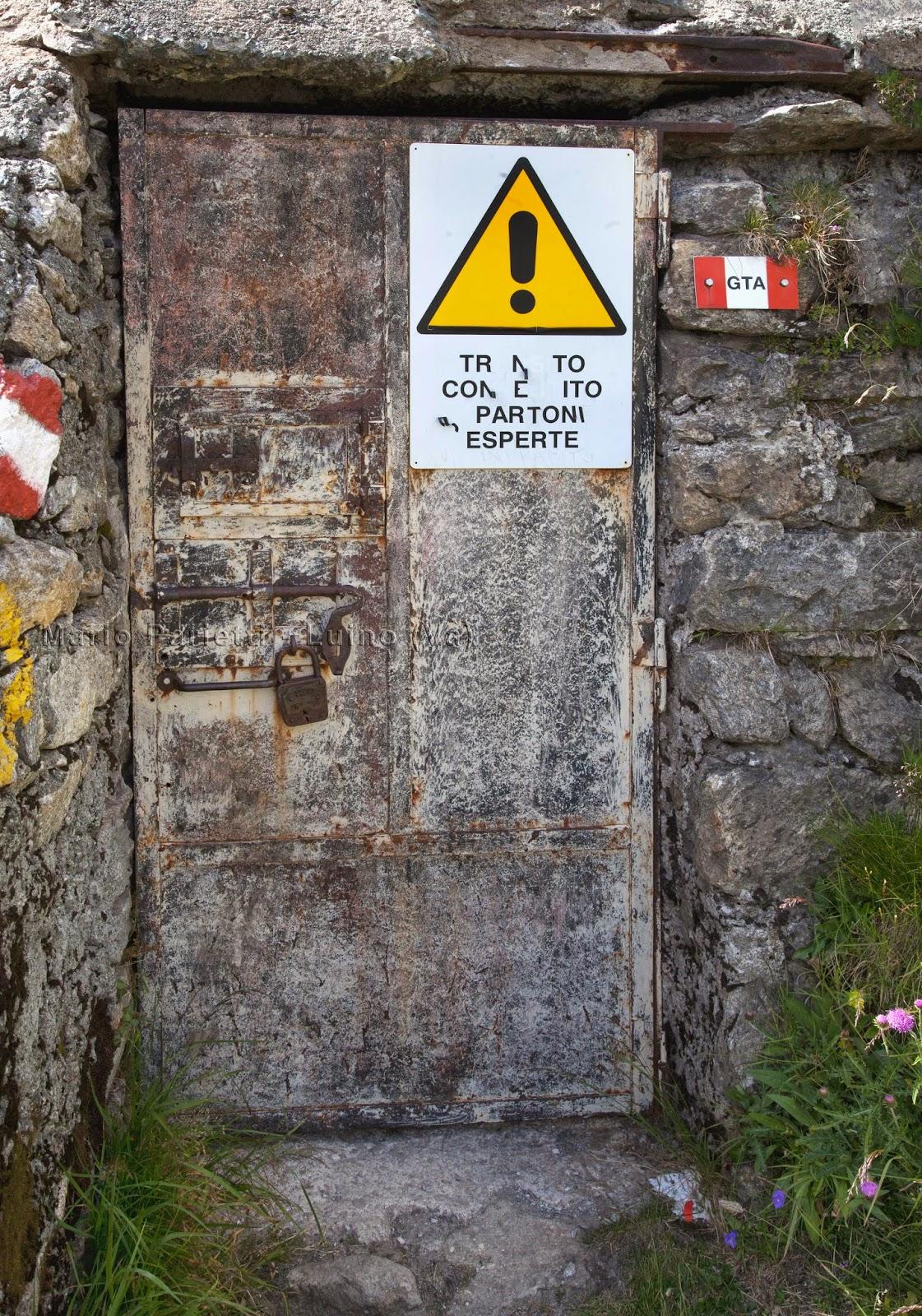 L'ingresso del tunnel dell'Enel