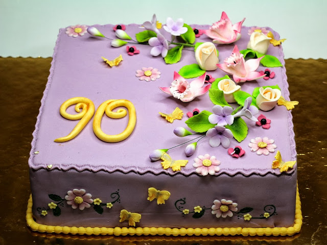 90th Birthday Cake for Woman in London