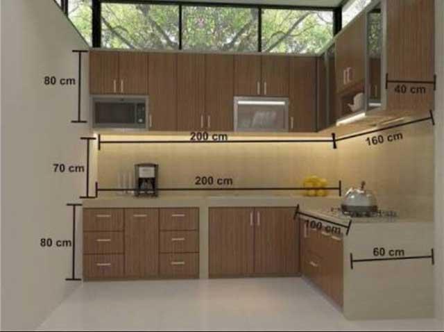 ukuran kitchen set