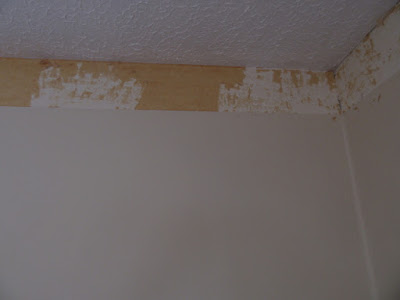 Paper backing after removing top layer of wall paper.
