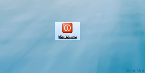 create shutdown shortcut option