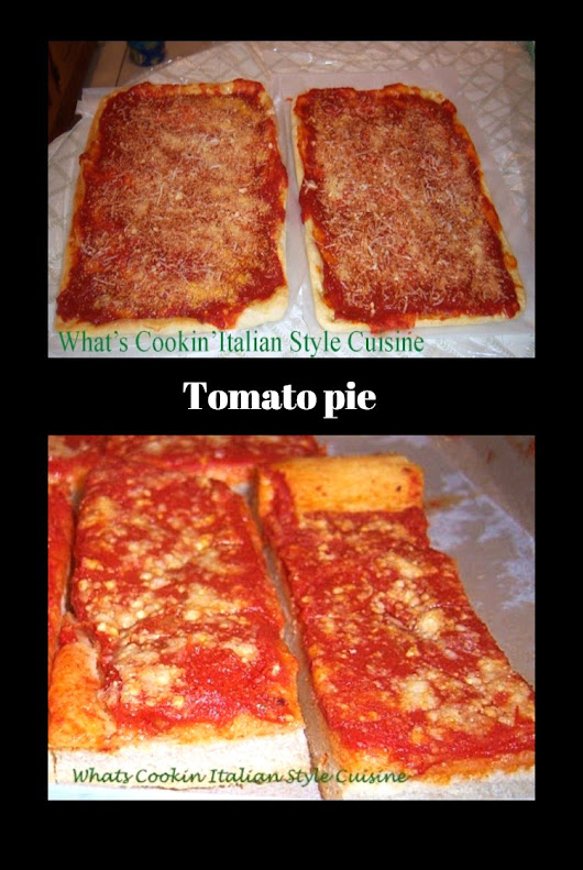 Tomato Pie Recipe Upstate New York | What's Cookin' Italian Style Cuisine