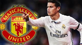 Manchester United Akan Umumkan James Rodriguez Minggu
