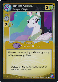 My Little Pony Princess Celestia, Bringer of Light Canterlot Nights CCG Card