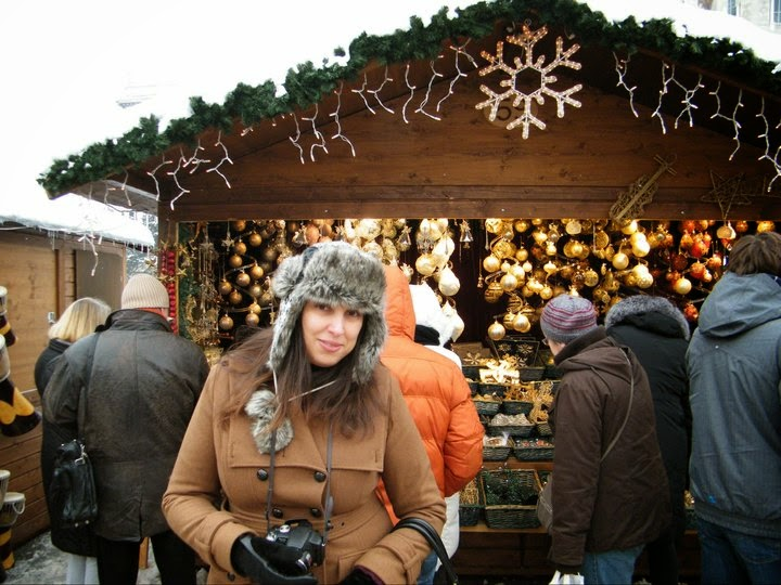 Me at a Christmas market in Vienna