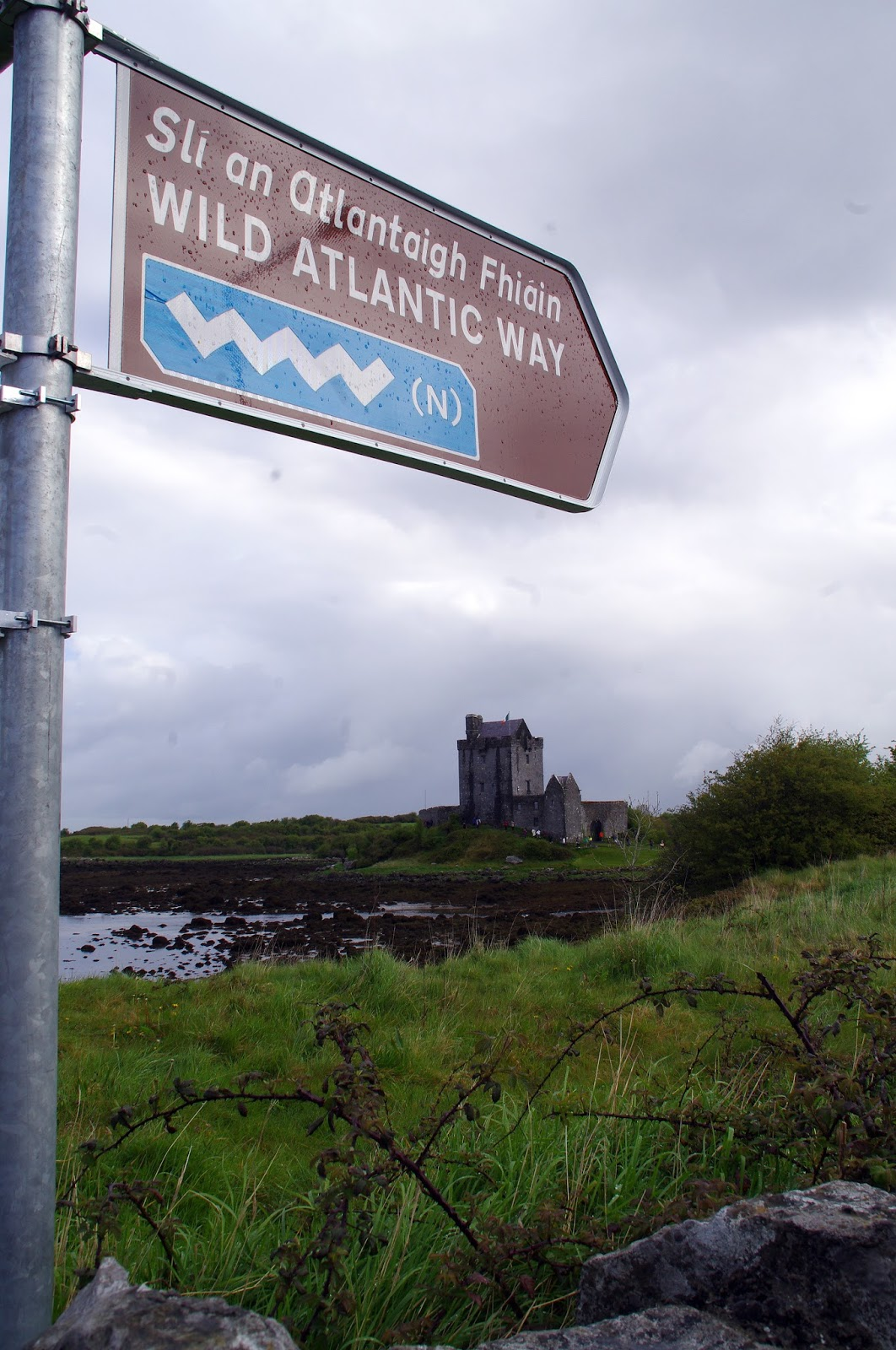 Sign to Dunguaire Castle Ireland