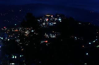 Cities at night, long exposure photographs