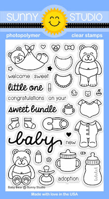 Sunny Studio Stamps: Introducing New Baby Bear Stamp Set