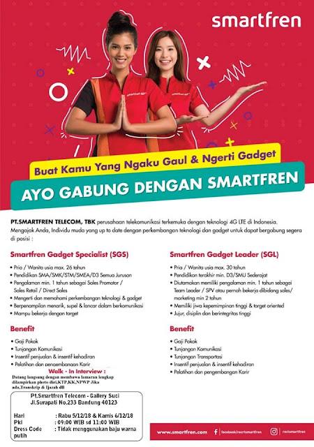 Lowongan Kerja PT. Smartfren Telecom (Bandung)