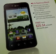 Free LG Optimus Black via T-Mobile UK on a contract