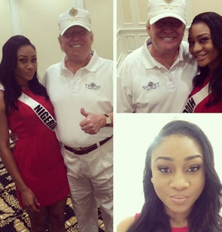 See Throwback Photo Of Donald Trump Holding A Nigerian Beauty Queen