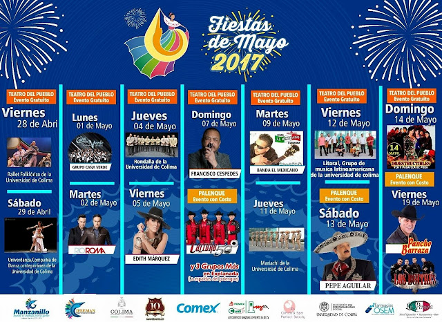 fiestas de mayo manzanillo 2017