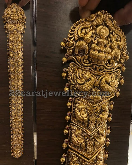 Nakshi work Peacock Lakshmi Jada